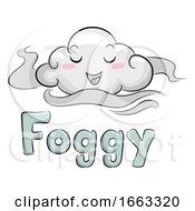Mascot Cloud Foggy Illustration