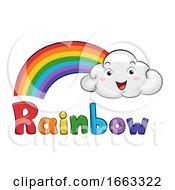 Mascot Cloud Rainbow Illustration