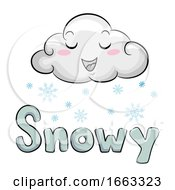 Mascot Cloud Snowy Illustration