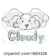 Mascot Cloudy Day Illustration