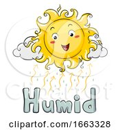 Mascot Sun Humid Illustration