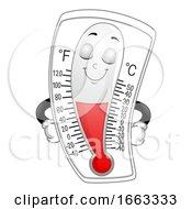 Mascot Thermometer Warm Illustration