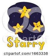 Mascot Stars Weather Starry Illustration