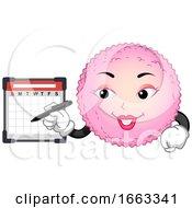 Poster, Art Print Of Mascot Egg Cell Check Calendar Illustration
