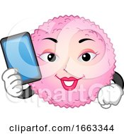 Mascot Egg Cell Ovulation Calculator Illustration