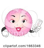 Mascot Egg Cell Positive Illustration