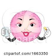 Poster, Art Print Of Mascot Egg Cell Supplement Illustration