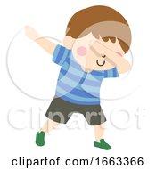 Kid Boy Pose Dab Illustration