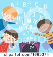Kids School Rhymes Alphabet Illustration