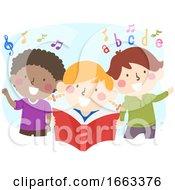 Kids Love Music Story Rhymes Illustration