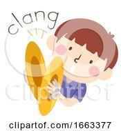 Kid Boy Cymbals Onomatopoeia Sound Clang
