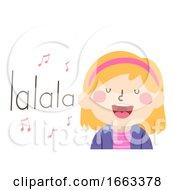 Kid Girl Sing Onomatopoeia Sound Lalala