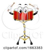 Mascot Snare Drum Illustration