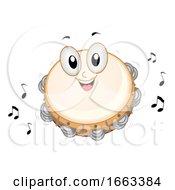 Mascot Tambourine Illustration