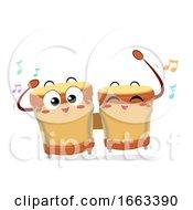 Mascot Bongos Illustration