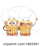 Mascot Bongos Speech Bubble Illustration