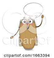 Mascot Conga Speech Bubble Illustration