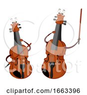 Mascot Violin And Viola Illustration