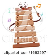 Mascot Wooden Xylophone Illustration