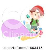 Kid Boy Compass Explore Illustration