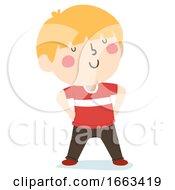 Kid Boy Confident Pose Illustration