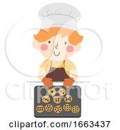 Kid Boy Number Cookies Illustration