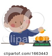 Kid Boy Measurement Kilogram Illustration
