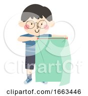 Kid Boy Arbitrary Non Standard Yard Illustration