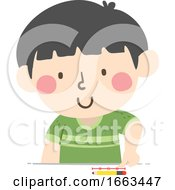 Kid Boy Arbitrary Non Standard Thumb Illustration