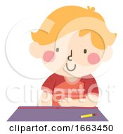 Kid Boy Arbitrary Non Standard Cubit Illustration