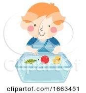 Kid Boy Float Things Illustration