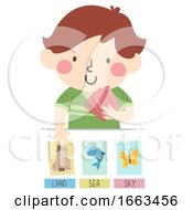 Kid Boy Animal Pictures Illustration