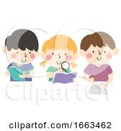 Kids Scientific Method Research Illustration