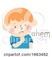 Kid Boy Clear Throat Onomatopoeia Sound Ahem