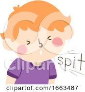 Kid Boy Onomatopoeia Sound Spit Illustration