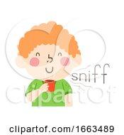 Kid Boy Smell Sniff Onomatopoeia Sound Sniff
