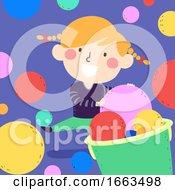 Kid Girl Early Math Size Quantity Illustration