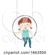 Kid Girl Aerial Skill Lyra Illustration
