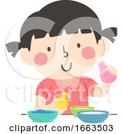 Kid Girl Sensory Stuff Balloon Illustration