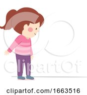 Kid Girl Arbitrary Non Standard Foot Illustration