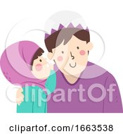 Kid Girl Muslim Whisper Father Voice Level