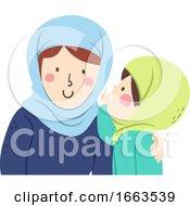 Kid Girl Muslim Whisper Mother Voice Level