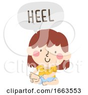Kid Girl Naming Body Parts Heel Illustration