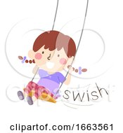 Kid Girl Swing Onomatopoeia Sound Swish