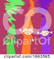 Kids Crayons Secondary Colors Illustration