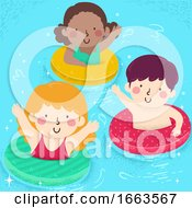 Kids Floater Pool Illustration