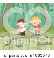 Kids Swamp Illustration