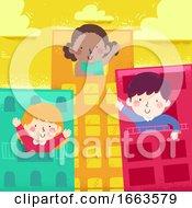 Kids Wave Live Buildings Illustration
