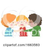 Poster, Art Print Of Kids Cooperate Illustration
