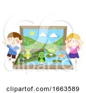 Kids Fresh Water Ecosystem Diorama Illustration